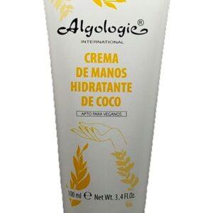 crema de manos hidratante de coco